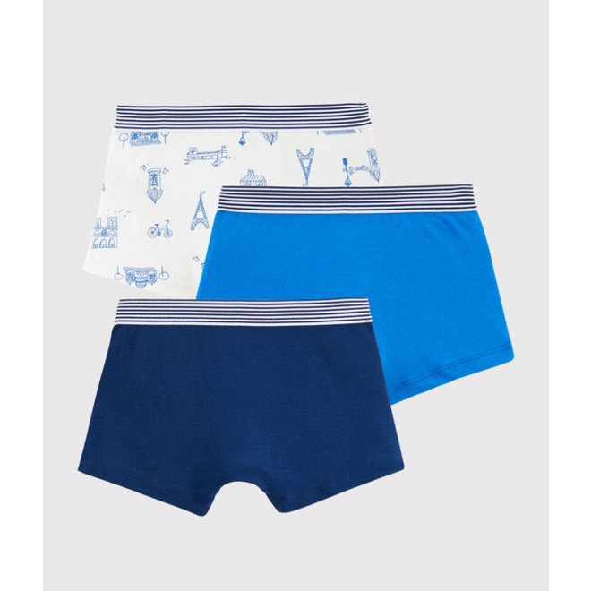 Boys' Paris Boxer Shorts - 3-Piece Set Pairs