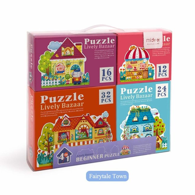 Mideer 4 In 1 Puzzle- Fairy Town