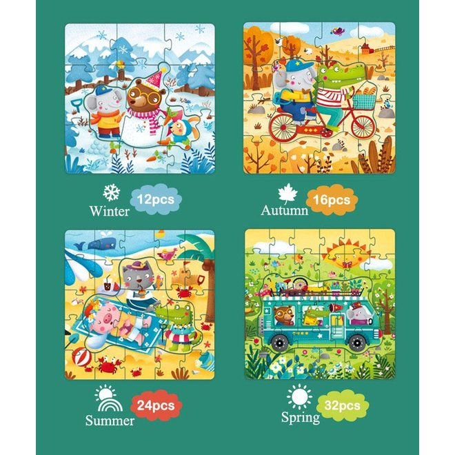 Mideer 4 In 1 Puzzle- Seasons