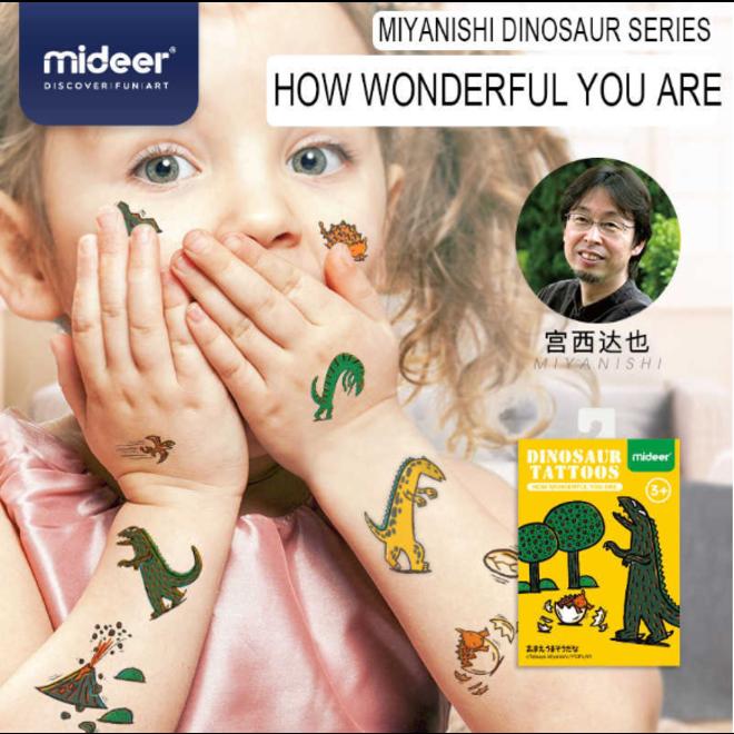 Mideer Dinasour Tattoos-How Wonderful You