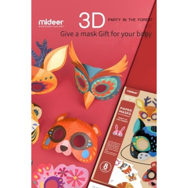 Mideer Paper Masks Party In The Forest