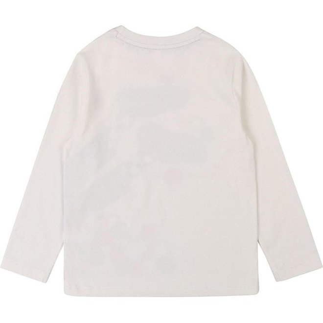 LMJ Graphic Print Long-Sleeve Top White