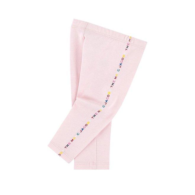 LMJ Logo-Print Mid-Rise Leggings Pink