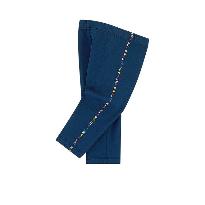 LMJ Logo-Print Mid-Rise Leggings Medieval Blue
