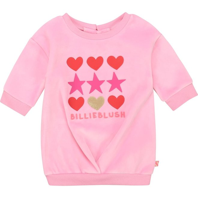 Billieblush Velour Dress Pink