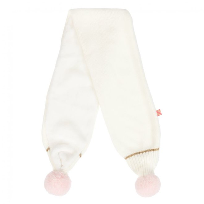 Billieblush Ensemble Bonnet Pull On Hat+Scarf White