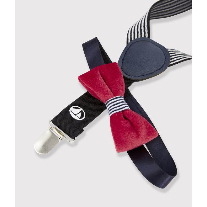 Braces and bow tie set