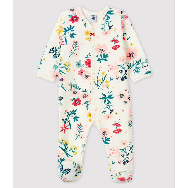 Baby Girls' Zip-Up Tube Knit Sleepsuit