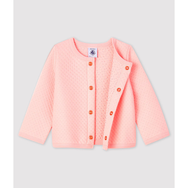 Baby girl's tubular knit cardigan
