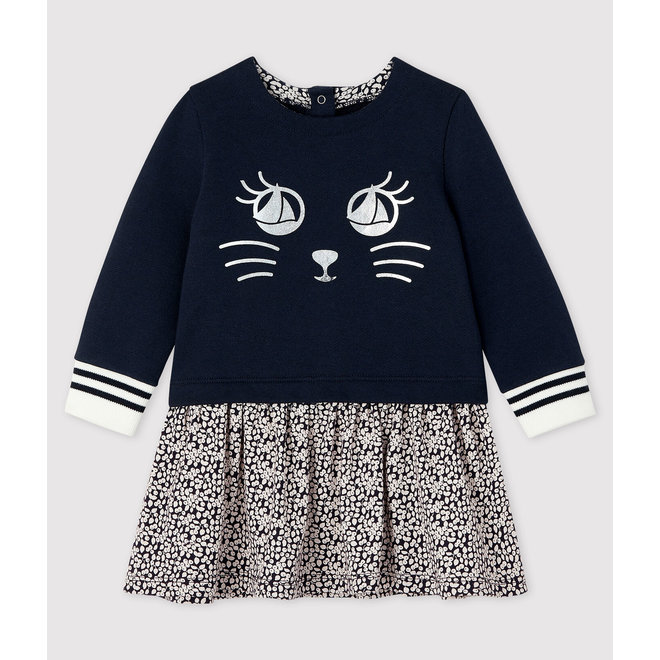 Baby girl's long-sleeved dress Dark Blue Eyes