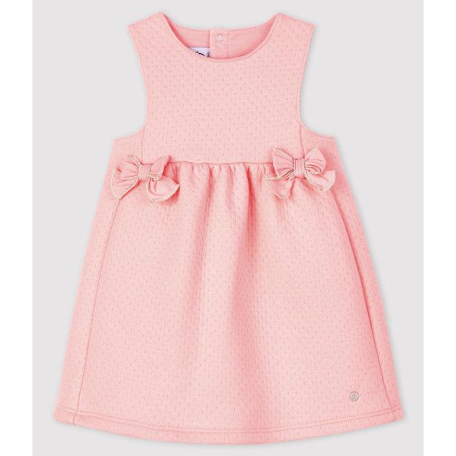 Baby girl's sleeveless dress Pink Bowl