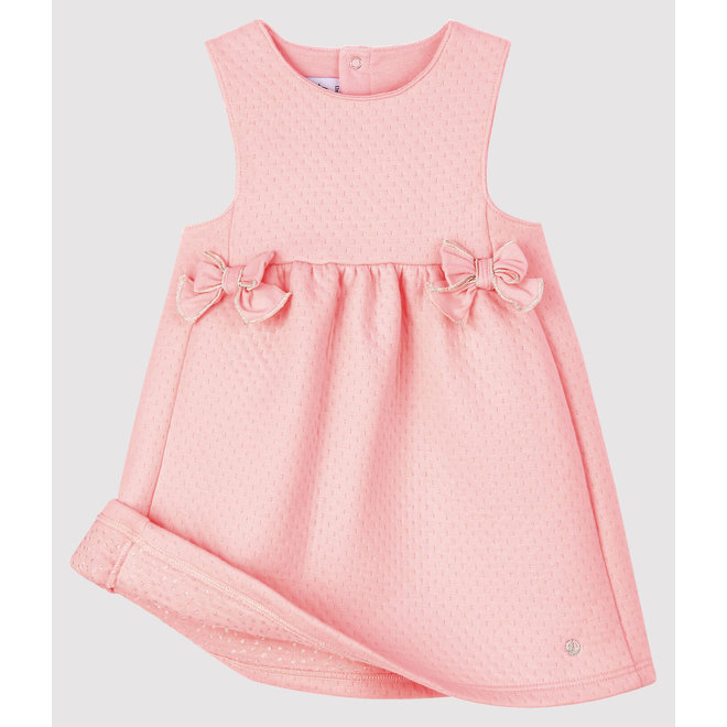 Baby girl's sleeveless dress Pink Bowl