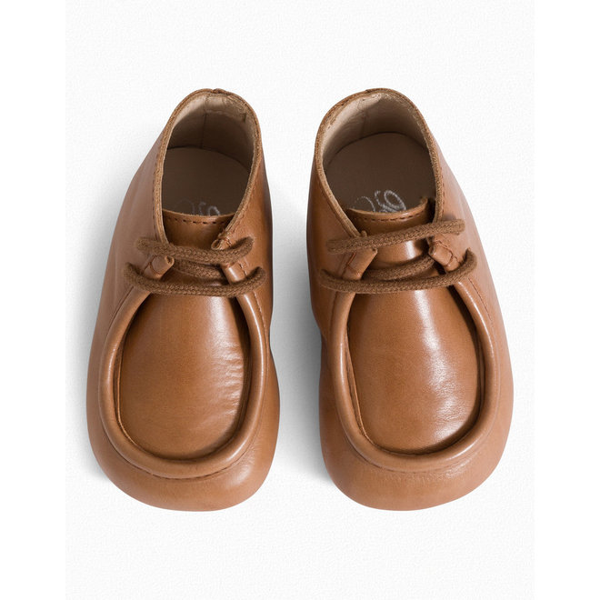 Leather Newborn Shoes Brown