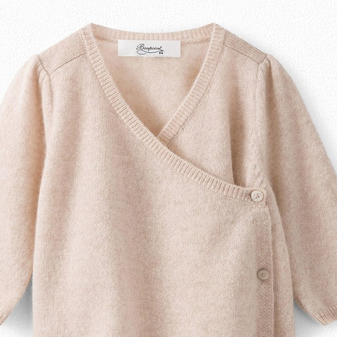 BABY CASHMERE WRAP CARDIGAN NATURAL