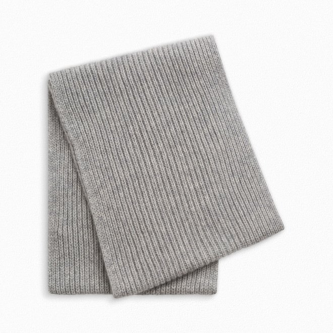 GIRLS' CASHMERE SNOOD HEATHERED GRAY