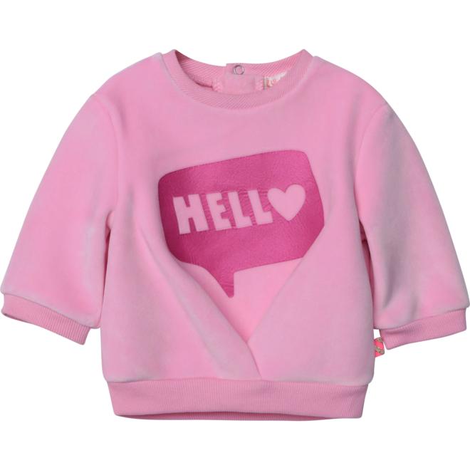 Billieblush Hello Bubble Velour Sweatshirt