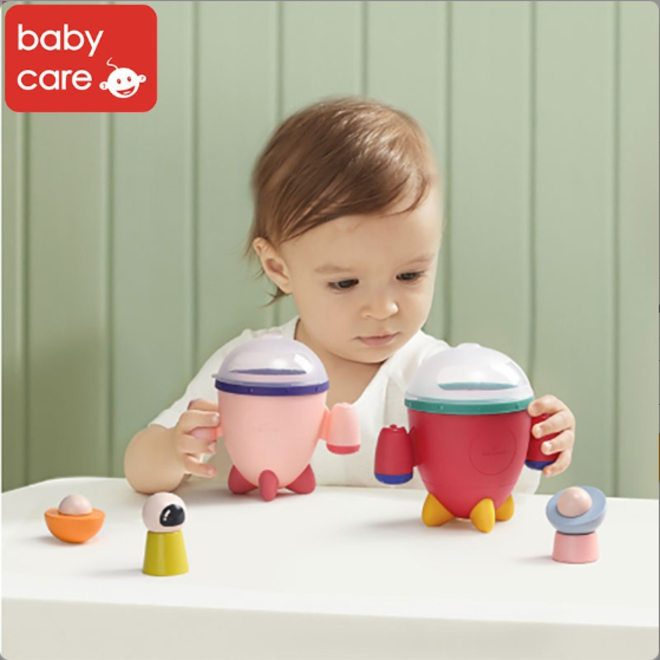 BC BABYCARE ROCKET SILICONE SNACK CUP RED