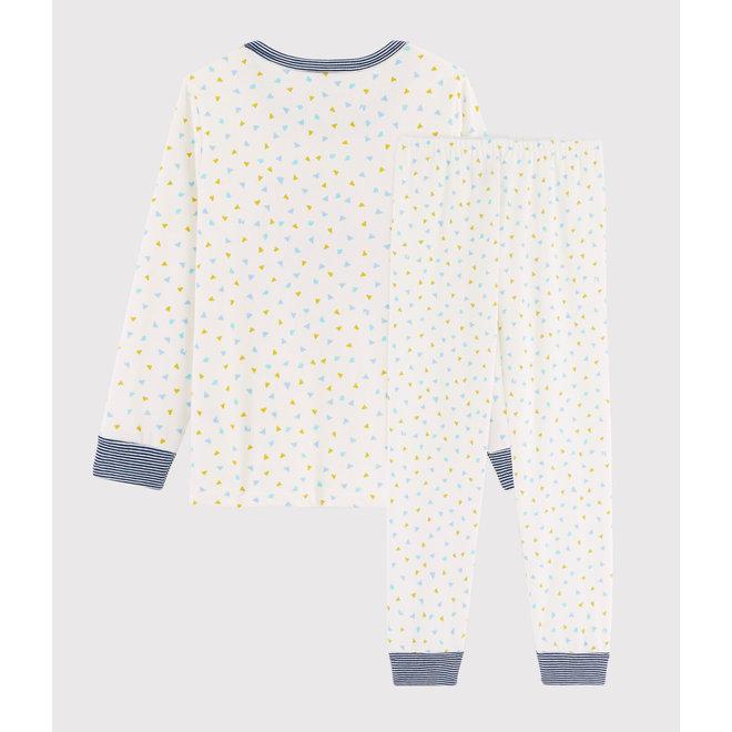 Children's dot Ribbed Pyjamas