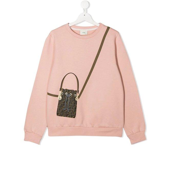 FENDI KID GIRL SWEATSHIRT WITH BAG DETAIL