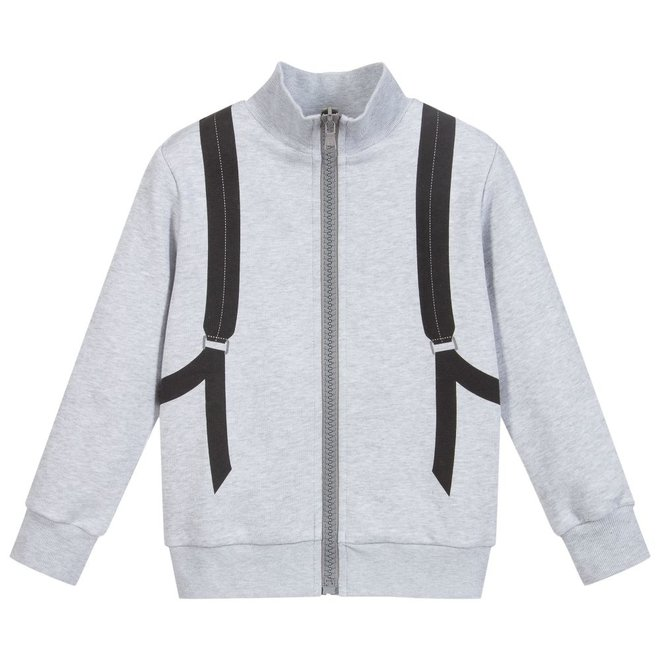 BOYS ZIP CARDGIAN WITH BACK PACK SPECIAL DETAIL