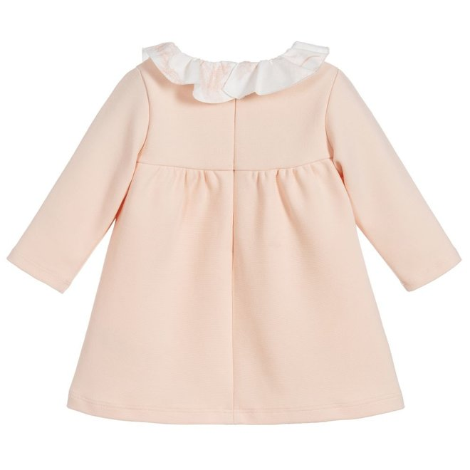 Chloé Kids Ruffled Collar Dress Pale Pink
