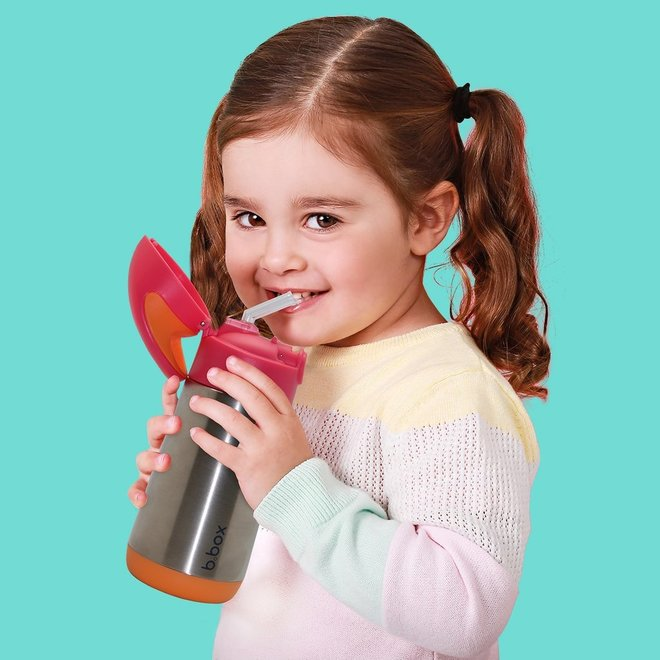 Insulated Drink Bottle Strawberry Shake