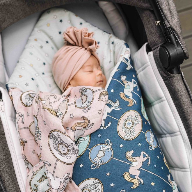 2 PACK SMALL MUSLIN SWADDLE 100% BAMBOO - ROUTE 66 & ROUTE 66 STARS