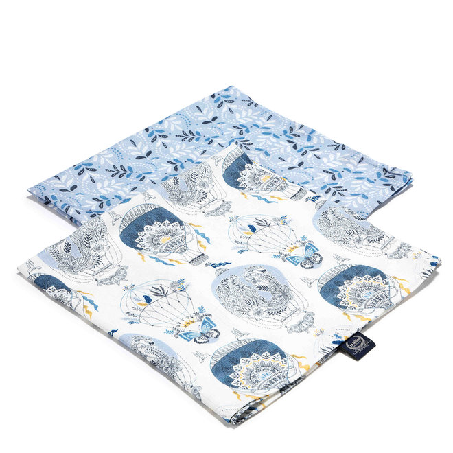 2 PACK SMALL MUSLIN SWADDLE 100% BAMBOO - CAPPADOCIA SKY & MEADOW SKY