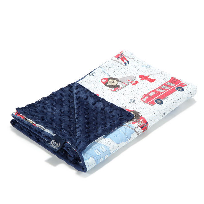 MEDIUM LIGHT BLANKET-BRAVEHEART LION NAVY- NAVY