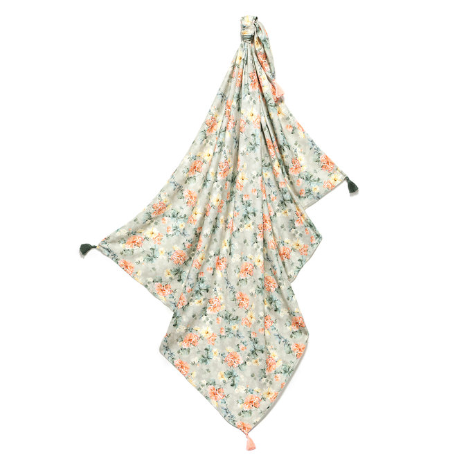 BAMBOO SWADDLE FRINGE - KING SIZE  - BLOOMING BOUTIQUE