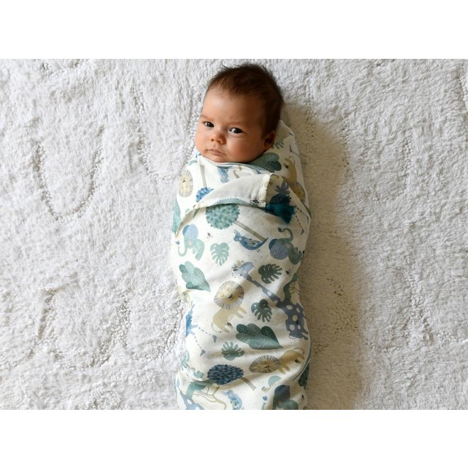 BAMBOO SWADDLE FRINGE - KING SIZE  - HELLO WORLD