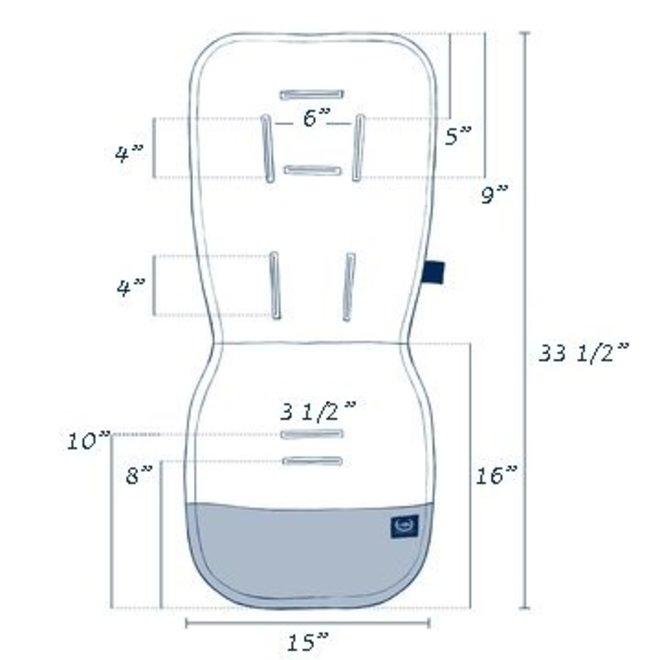 ORGANIC JERSEY COLLECTION - STROLLER PAD - MOONLIGHT SWAN - VELVET POWDER PINK
