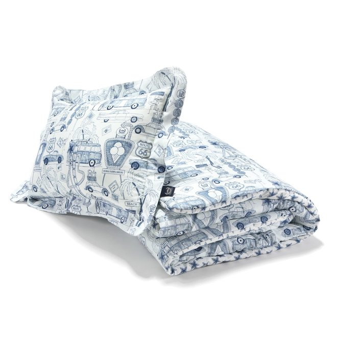 """BEDDING SET WITH FILLING ADULT """"XL"""" - ROUTE 66 & ROUTE 66 STARS"""