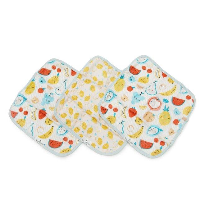 Washcloth 3-pieces Set - Cutie Fruits