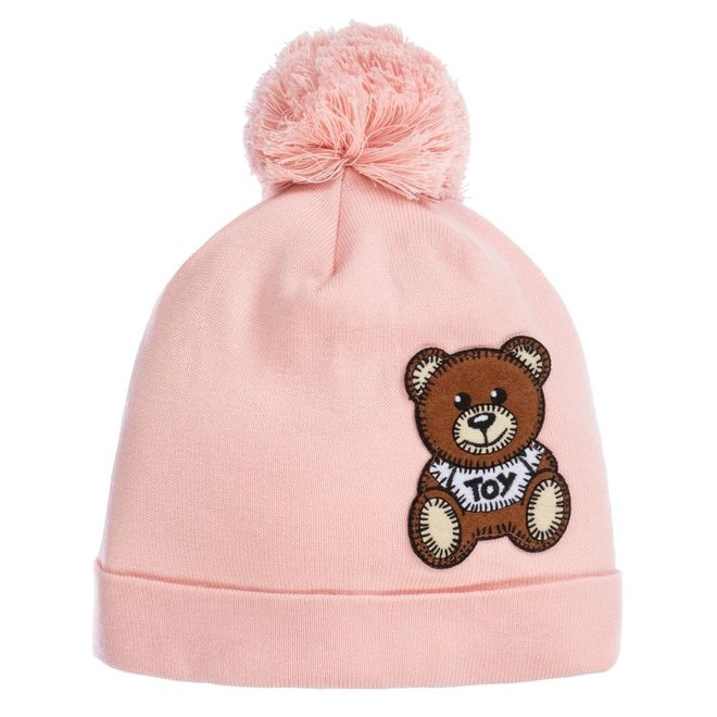 Hat With Bear Toy Patch Rose