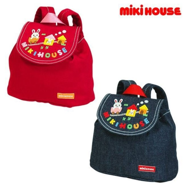 mikihouse baby backpack Red
