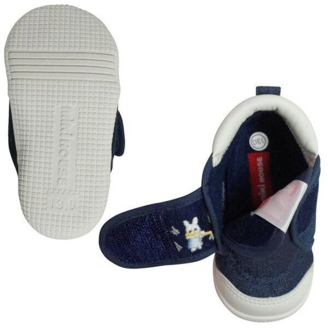 mikihouse baby shoes Bunny Denim