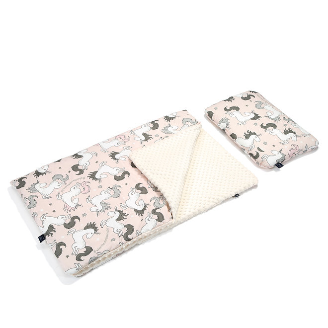 KID KIT: BLANKET AND BED PILLOW  - UNICORN SUGAR BEBE