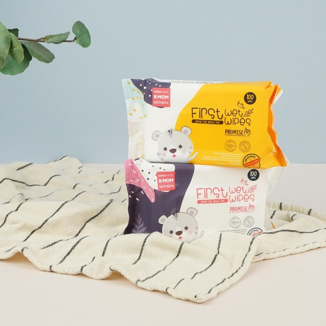 K-Mom First Wet Wipes 100Pcs Promise