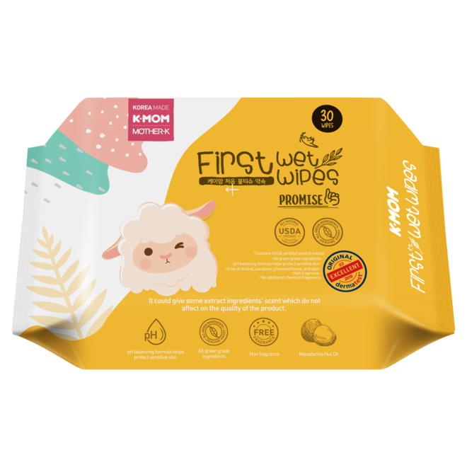 K-Mom First Wet Wipes 30Pcs Promise