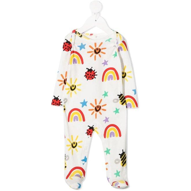 Baby Unisex Crayon Weather Bib Footie Set