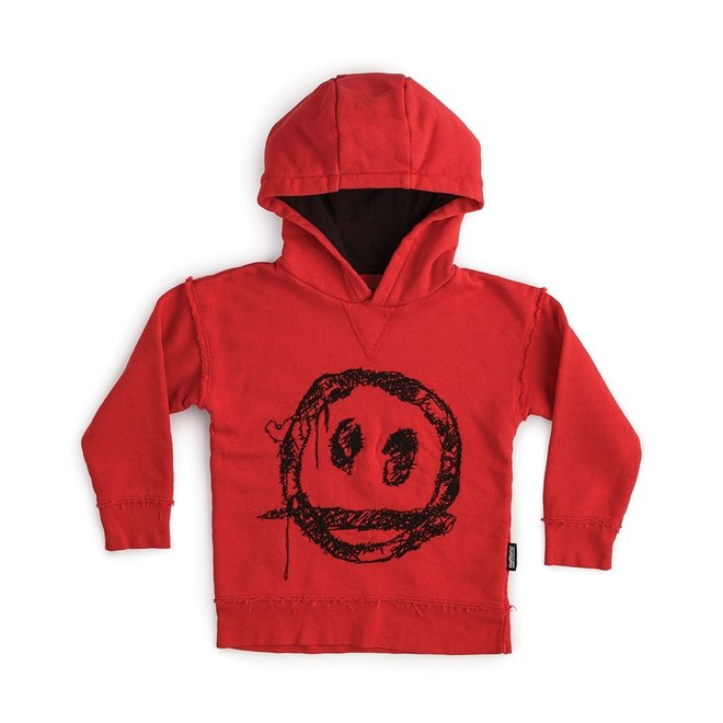 Embroidered Sprayed Smile Hoodie