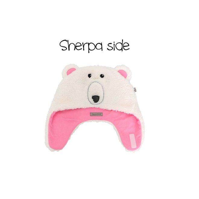 Flapjacks Reversible Sherpa Hat PolarBear/Goggles