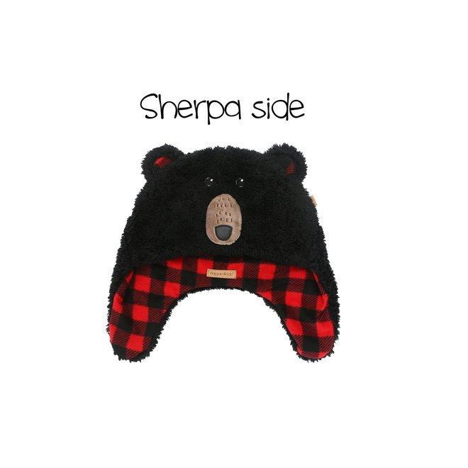 Flapjacks Reversible Sherpa Hat BlackBear/Aviator