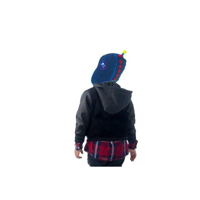 Flapjacks Reversible Sherpa Hat Dino/Astronaut
