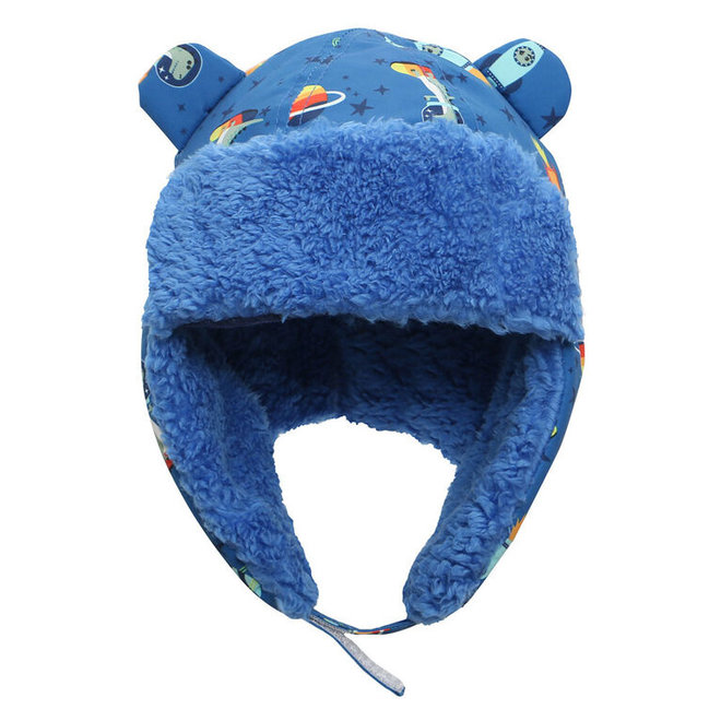 Flapjacks Water Repellent Trapper Hat Dino Blue