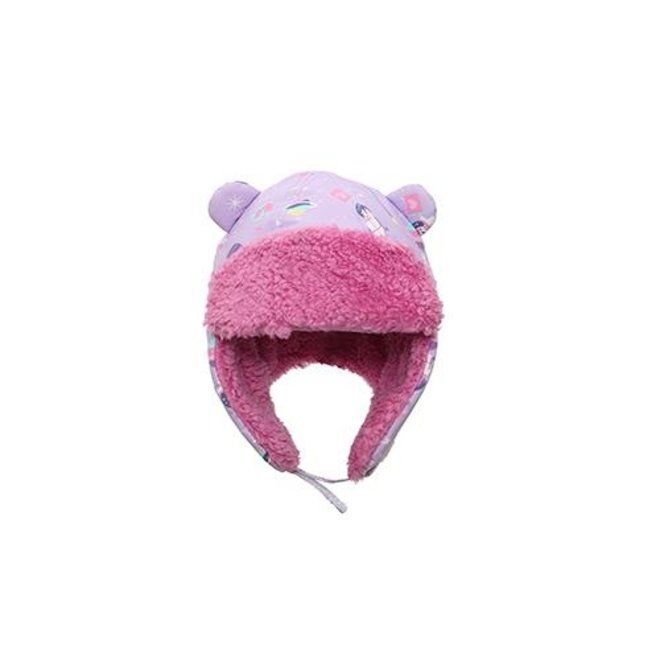 Flapjacks Water Repellent Trapper Hat Unicorn Lilac