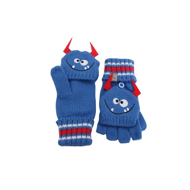 Flapjacks Knitted Fingerless Gloves w/Flap Monster