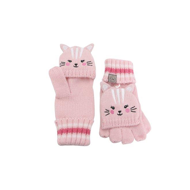 Flapjacks Knitted Fingerless Gloves w/Flap Cat