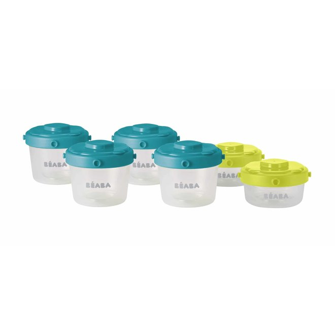 Clip Container 2 oz/4 oz (6 Pk) Peacock